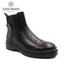 Buy VAIR MUDO New Brand Autumn Winter Ankle Boots Women Shoes Martin Boots Ladies Flat Shoes Slip-On Convenient  Wear Warm Boot DX40 directly from merchant!