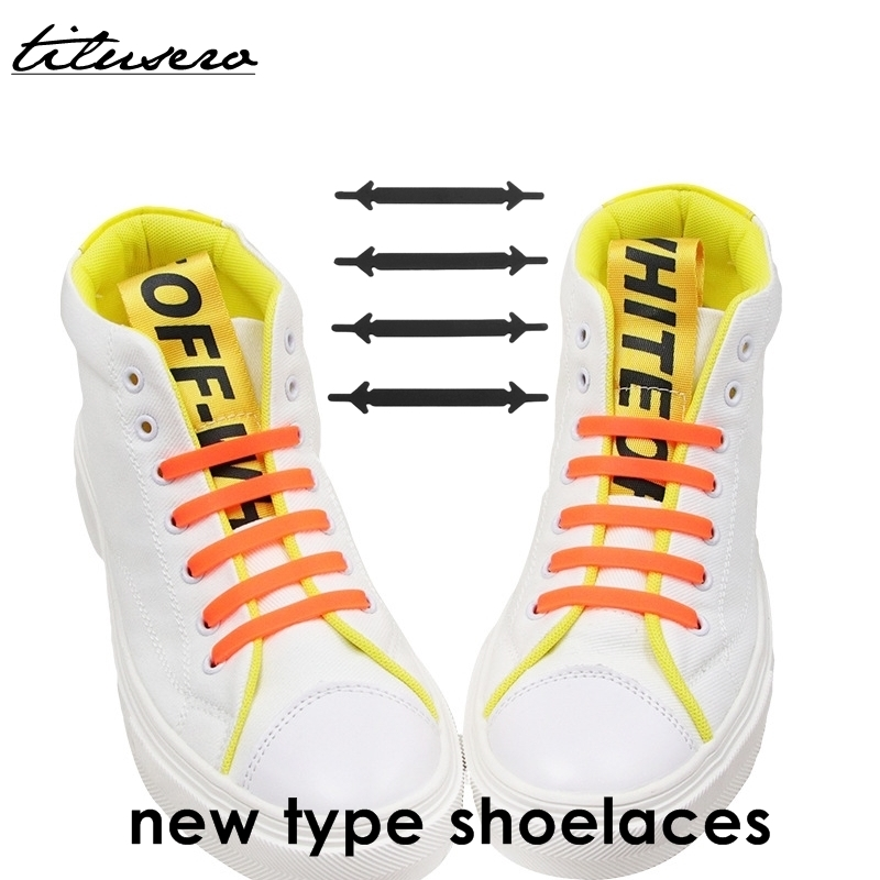 No Tie Shoelace System Silicone Creative Shoelaces For Unisex Running Elastic Silicone Shoe Lace F002
