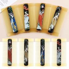 Случайный цвет четыре изображения красоты Двусторонняя перхоти расческа для ухода за волосами укладки вшей гребень шифрование решетки с обеих сторон с китайским древним