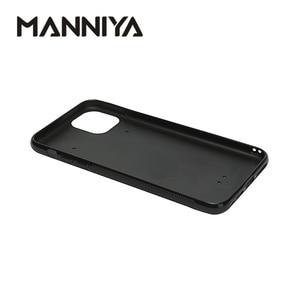 Image 4 - Manniya 아이폰 11/11 프로/11 프로 최대 빈 승화 tpu + pc 고무 전화 케이스 알루미늄 삽입 10 개/몫
