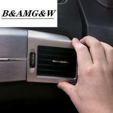 Car Air Vent Trim Outlet Decor Frame Stainless Steel Sticker For Mercedes Benz 2008-2012 GLK 220 250 300 350 X204 Accessories