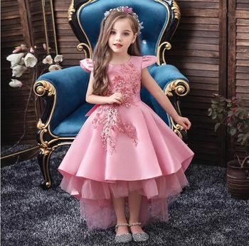hot formal princess kids girls summer mesh wedding dresses party gown for age 3 4 5 6 7 8 9 10 years children prom gown clothing Girls Dress Christmas Kids Dresses For Party Little Princess Dress Wedding Gown Children Clothing 1 2 3 6 8 Years