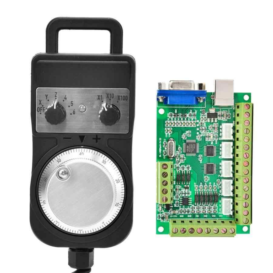 Carte d'interface USB verte MACH3 5 essieux carte de contrôle de mouvement CNC + volant sans arrêt