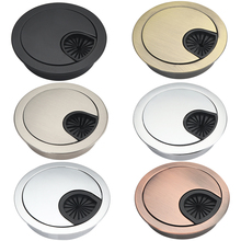Zinc Alloy Round Table Hole Cover Wire Outlet Port Computer PC desk cable grommet 50/53/60/80mm Line Holder Wiring Accessories 2pcs high quality abs computer desk table grommet cable port wire hole cover 50mm 53mm 60mm wire storage rack furniture hardware