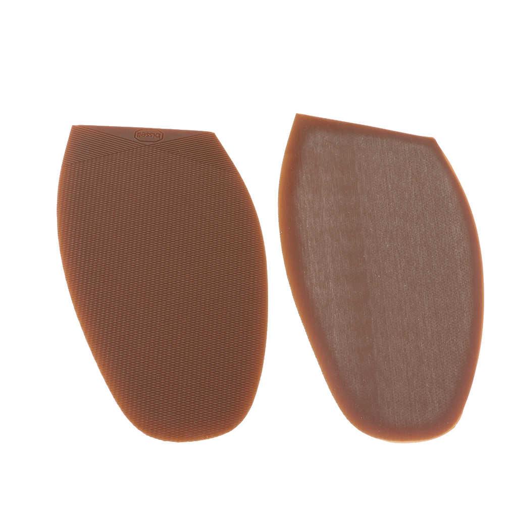 Kauçuk tutkal yarım tabanlar Anti kayma ayakkabı tamir ipuçları Pad değiştirme kahverengi