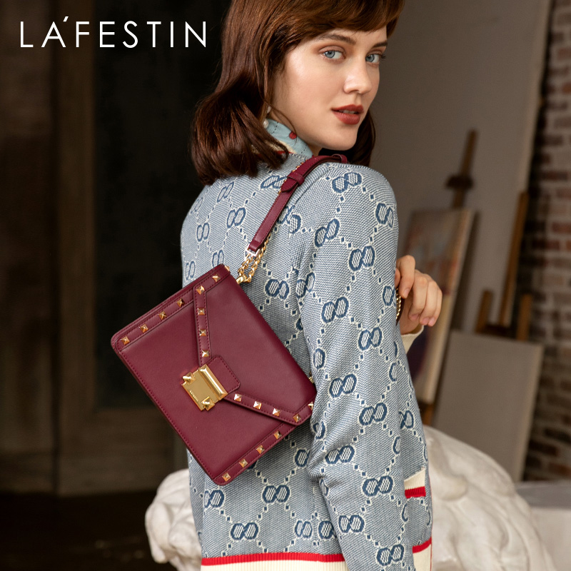 LAFESTIN 2019 Autumn New Fashion Multi-function Women Shoulder Bag European And American Style Messenger Bag Rivet Embellishment