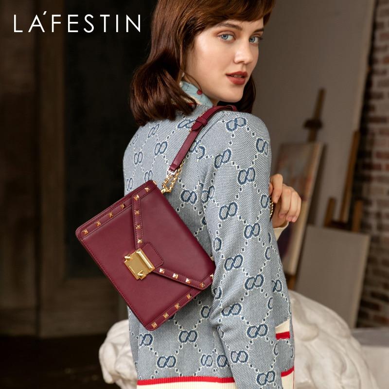 LAFESTIN 2019 Autumn New Fashion Multi-function Women Shoulder Bag European And American Style Messenger Bag Rivet Embellishment