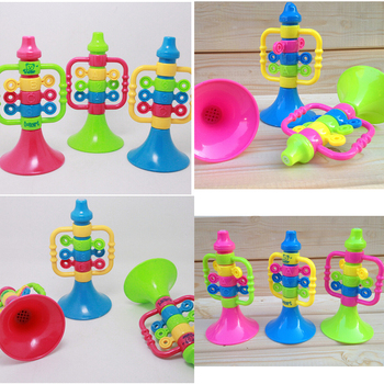 Pizies Colorful Kids Baby Cute PlasticTrumpet Speaker Children Musical Instruments Educational Letter Number Bugle Hooter Toys image