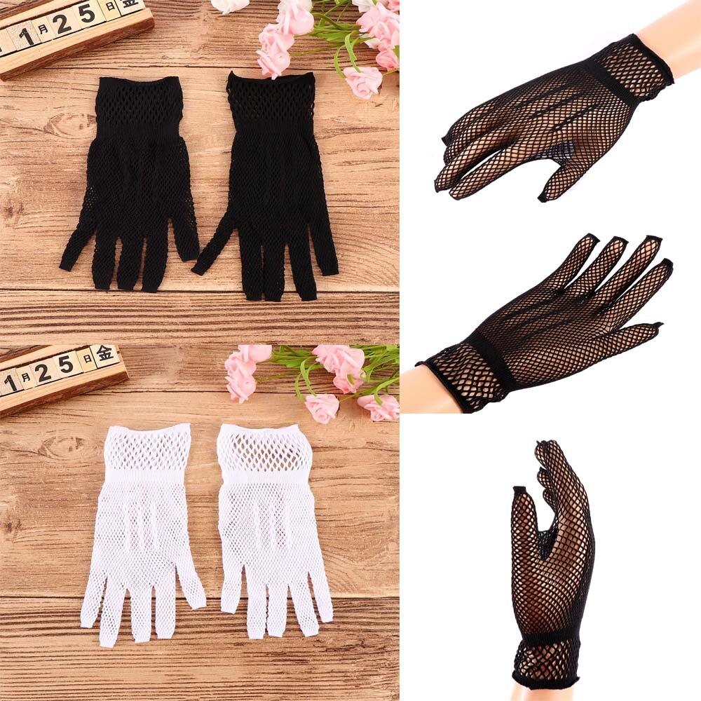 1 Pair Women Summer UV-Proof Driving Gloves Mesh Fishnet Gloves Nylon Mesh Solid Thin Summer Women Gloves Mitten