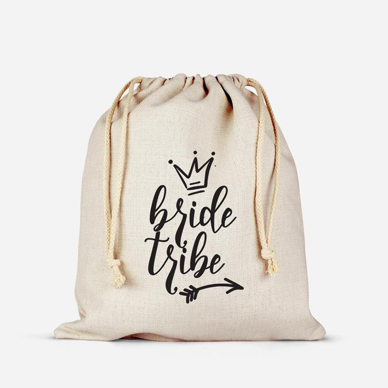 Personalized Bride Tribe Arrow Survival Kit Bags Bridesmaid Hangovers Bag Wedding Cotton Gift Bag Bachelorette Welcome Favor Bag