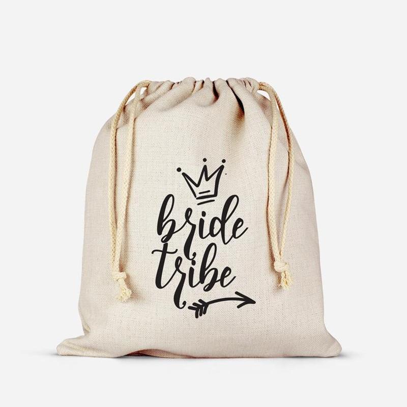Personalized Bride Tribe Arrow Survival Kit Bags Bridesmaid Hangovers Bag Wedding Cotton Gift Bag Bachelorette Welcome Favor Bag