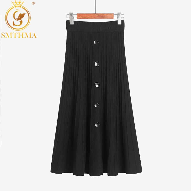 Винтажная длинная плиссированная юбка, трикотажная юбка с высоким поясом, А-силуэт, стильная модель для офиса, элегантный наряд для женщин на зиму