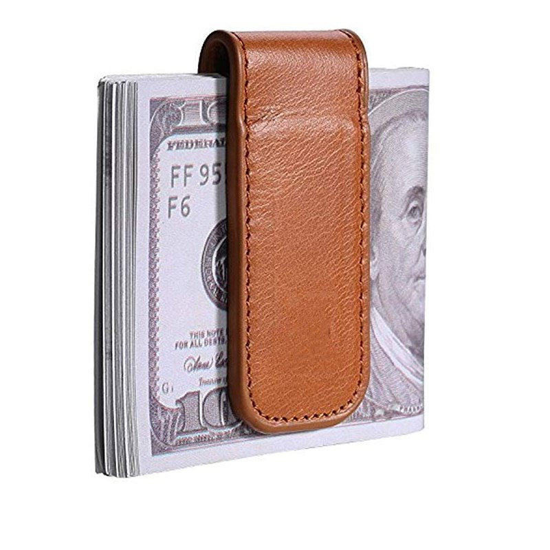 Hot Sales High-end Pu Wallet Magnetic Banknote Cheque Was Pi Qian Jia