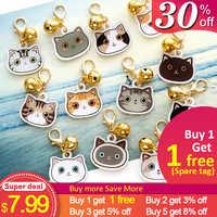 Персонализированные кошки бирка с иконой ручной работы акриловая ID бирка для ошейник для кошек котенок Очаровательная табличка с именами т...