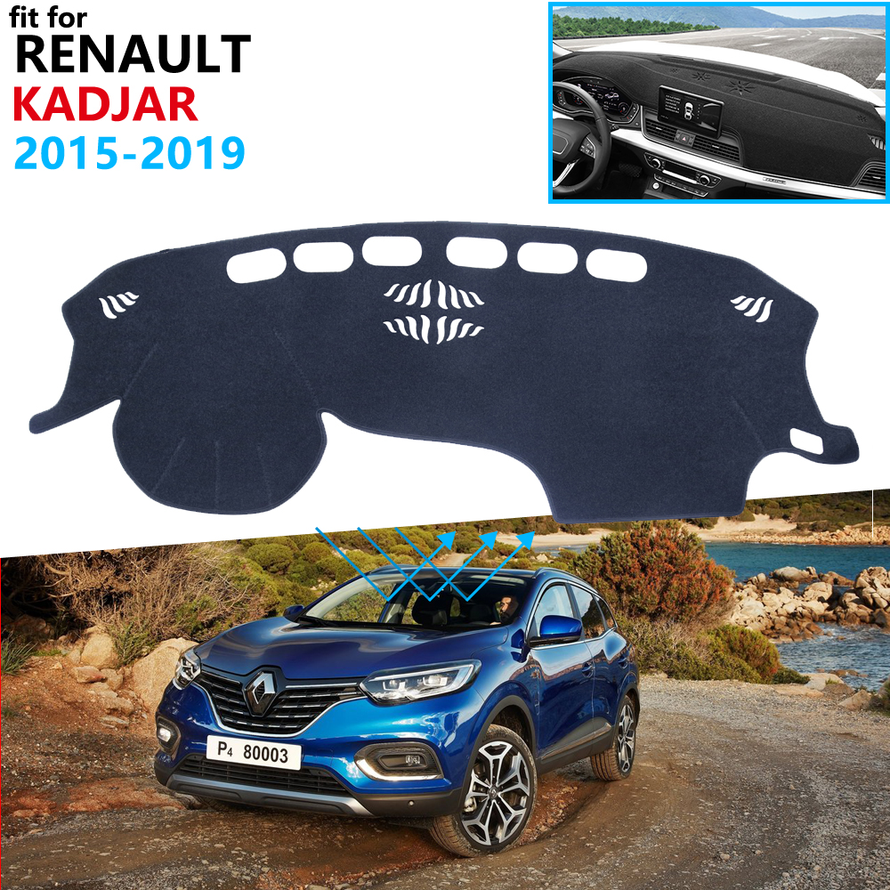Dashboard Cover Protective Pad For Renault Kadjar 2015 2016 2017 2018 2019 Car Accessories Dash Board Sunshade Anti-UV Carpet