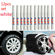 Paint Marker-Pen Permanent White Car-Tyre Rubber Waterproof 12pcs/Set Tread Environmental