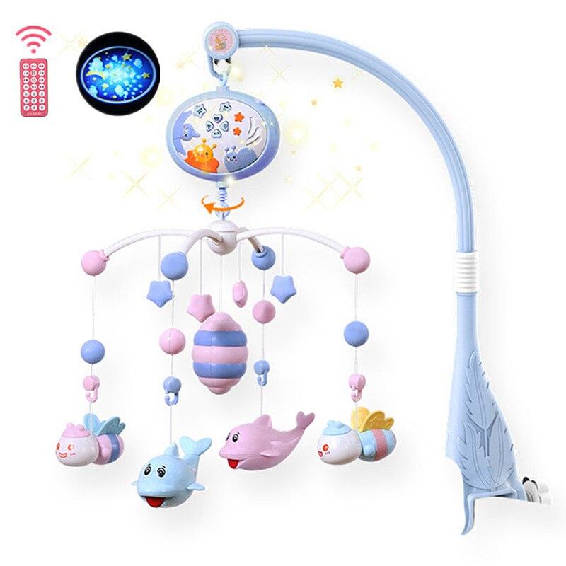 chocalhos do bebe berco moveis brinquedo titular rotativa berco movel cama musical caixa de projecao 0