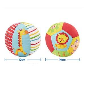 Image 5 - Animal Brinquedos do bebê Bola Macia Bolas de Brinquedo Do Bebê de Pelúcia Chocalhos Infantil Bebês Esfera Do Edifício de Corpo para 0 12 Meses