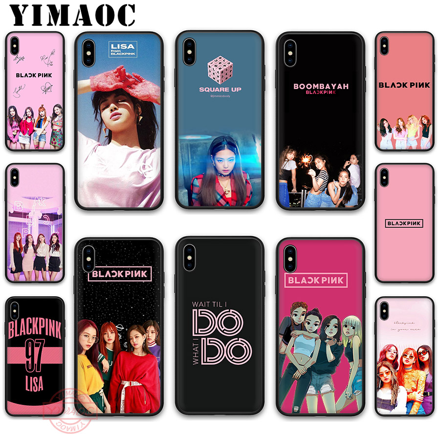 YIMAOC BLACKPINK <font><b>KPOP</b></font> BLACK PINK Soft Silicone <font><b>Case</b></font> Cover for Apple <font><b>iPhone</b></font> 5 5S SE 6 6S 7 8 Plus X XS XR 11 Pro Max Back Shell image