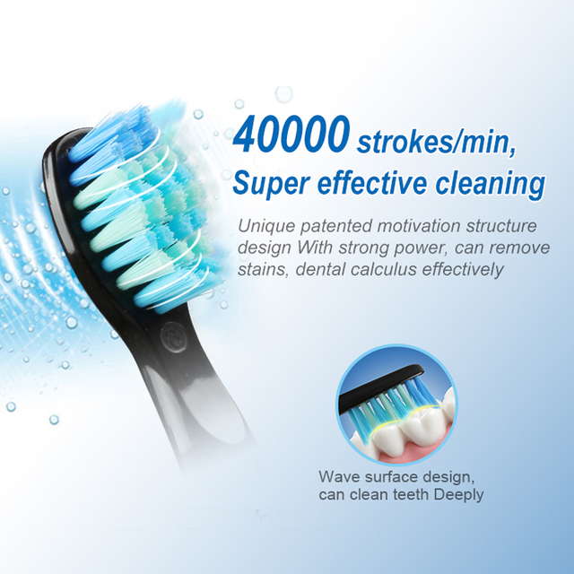 SEAGO Electric Toothbrush Rechargeable Buy One Get 1 Free Sonic Travel Toothbrush Head replacement  Whitening Best Healthy Gift 1