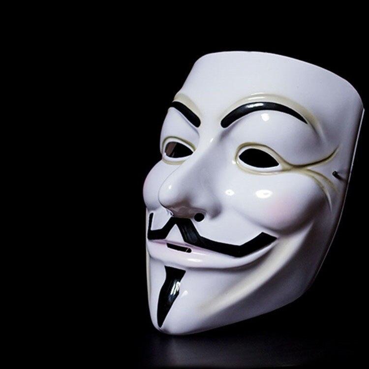 Filme cosplay v para vendetta hacker máscara anônimo cara fawkes halloween festa de natal presente para adulto crianças filme tema máscara