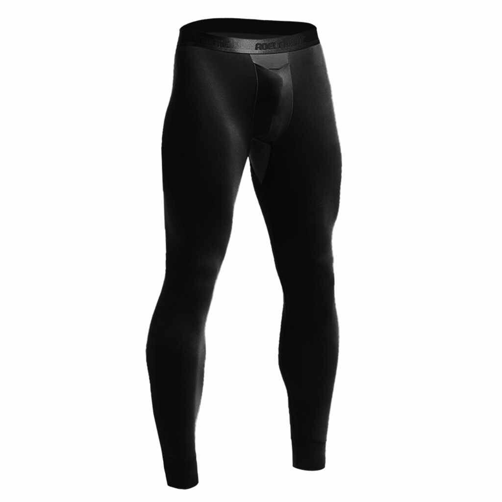 Seksi Kompresi Celana Jogger Pria Pelatihan Kebugaran Olahraga Legging Gym Jogging Peregangan Bernapas Termal Peluru Pemisahan Celana