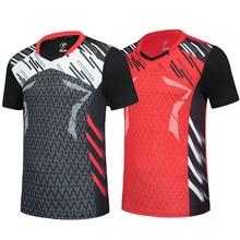 Мужская/Женская футболка для бадминтона, спортивная одежда для бадминтона, футболка для настольного тенниса, Qucik футболка для сухих упражне...
