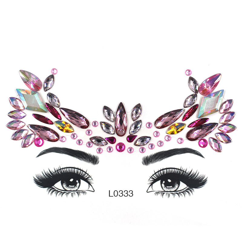 Eye Glitter Rhinestone Temporary Tattoo Stickers Body Face Jewel Party Makeup Tatoo Face Crystal Stickers For Woman Girls Stick. (3)