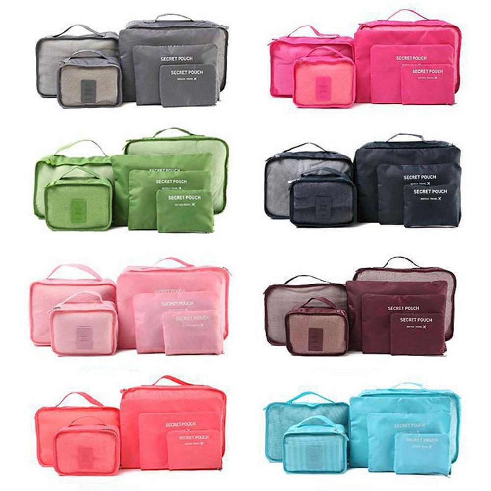 Storage Bag Suit Storage Pouch Multi Colors Oxford Cloth Travel Supply Home Organization Clothes Placing 6Pcs/Set Fashion image