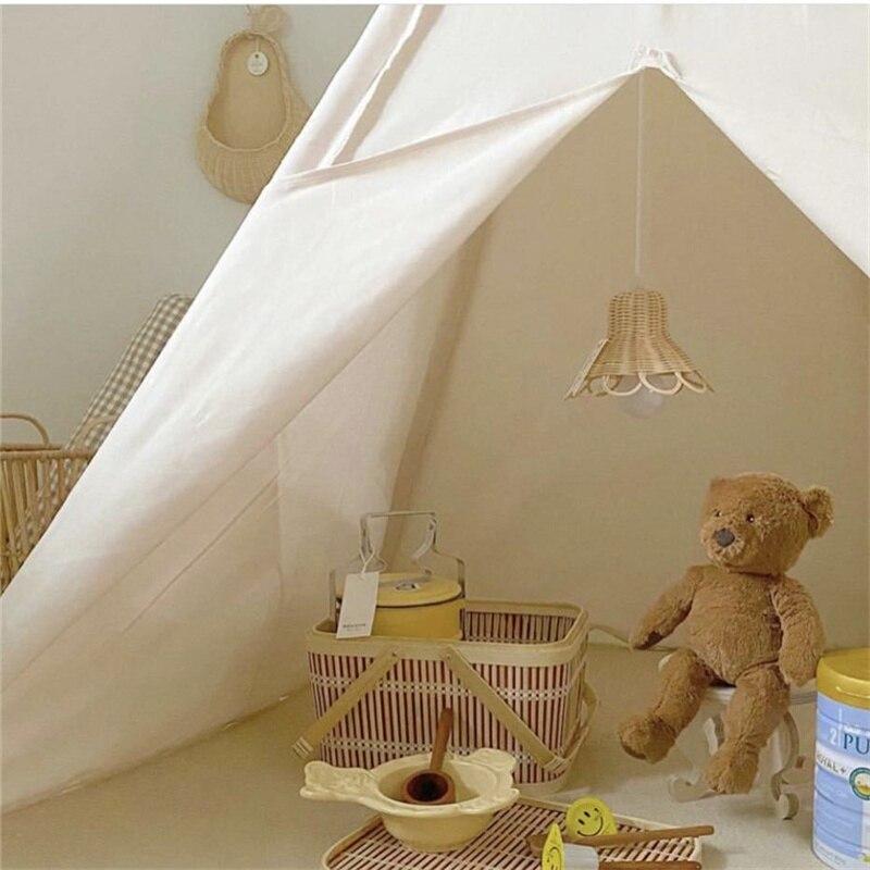 rattan abajur artesanal criancas quarto bercario dormitorio 01