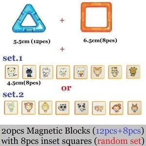 Image 2 - Große größe Magnetische Blöcke DIY gebäude einzelnen ziegel designer zubehör konstruieren Magnet modell Pädagogisches spielzeug Für Kinder Kinder