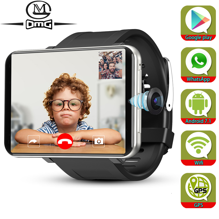 Support Google Play Android 7.1 Smart Watch GPS WiFi 3GB + 32GB 4G Smartphone Men SmartWatch 5.0mp Camera 2700mAh Mobile Phone