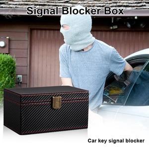 Image 5 - Privatsphäre Schutz Anti Theft Auto Key RFID Signal Blocker Box Geldbörse Sicherheit Handy Praktische PU Leder Keyless Entry