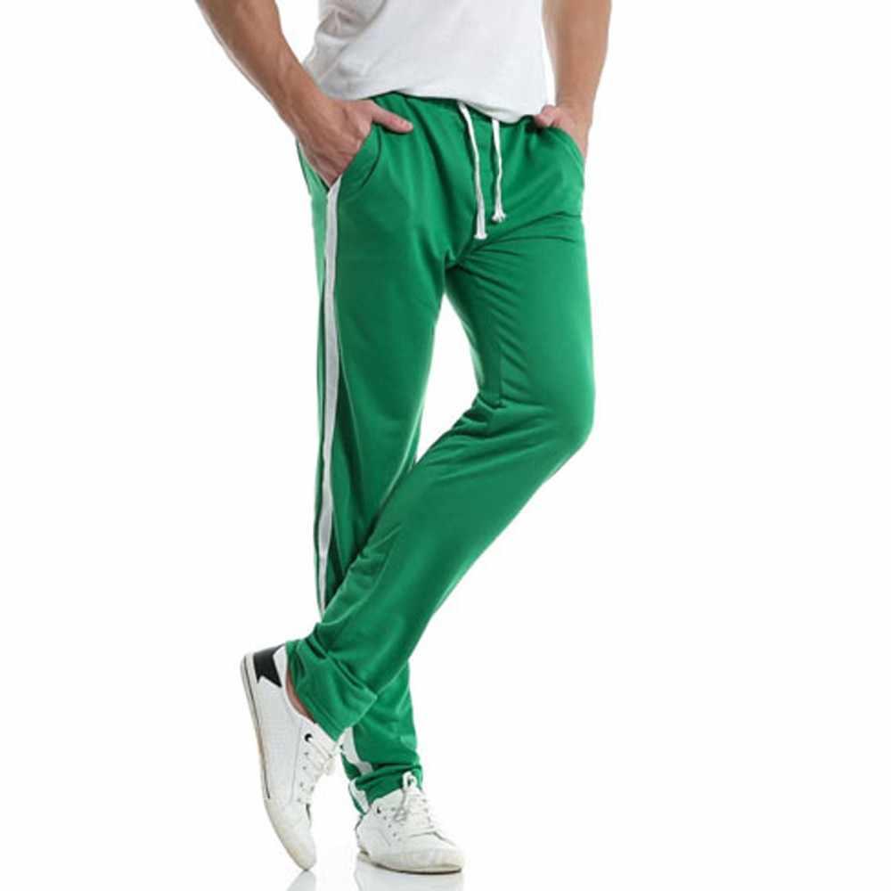 男性のカジュアルスリムスポーツパンツ2020男性ヒップホップパンツ男性スウェットパンツスラックスカジュアル弾性joggingsスポーツ固体だぶだぶズボン