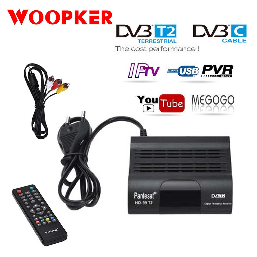DVBT2 TV Tuner Full HD Digital TV Receiver TV Box DVB C IPTV M3u Youtube Russian Manual Set Top Box H265 TDT TV Receptor