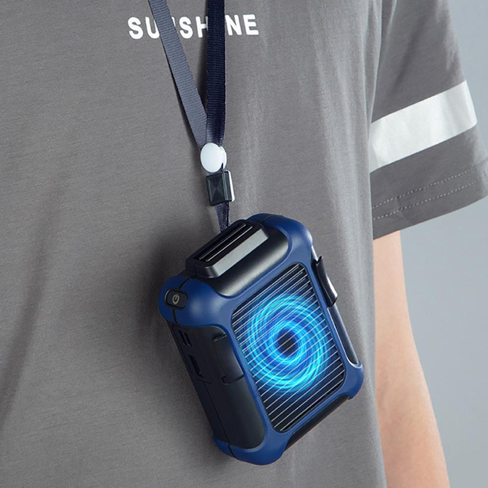 Summer Camping Fishing USB Hanging Clip On Waist Belt Hands-free Air Cooling Fan 2020