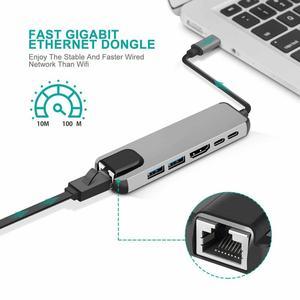 Image 4 - USB HUB C HUB to Multi USB 3.0 HDMI Adapter Dock for MacBook Pro Accessories USB C Type C 3.1 Splitter 3 Port USB C HUB