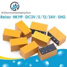 HK19F-DC5V-SHG HK19F-DC12V-SHG HK19F-DC24V-SHG катушка DPDT 8 Pin 2NO 2NC Mini Power Relay PCB Type