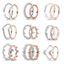BAOPON – bague plaquée argent pour hommes et femmes, anneau empilable avec nœud papillon scintillant, zircone cubique, cadeau de marque, bijoux, offre spéciale