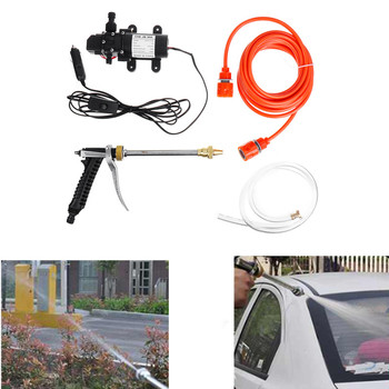 1 Set 12V 100W Car Washer Gun Pump High Pressure Cleaner Portable Washing Machine Electric Cleaning Auto Device image