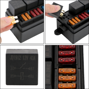 Image 2 - Fuse 12 Way Blade Fuse Holder Box with Spade Terminals 4Pin 12V 40A Relays for Auto Car Truck Trailer Plastic Cover