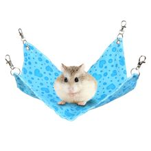 Pet Dogs Cats Hamster Guinea Rabbit Cage Hanging Bed Pad Mat Hamsters Pet Sleeping Hammock Small Animel House Platform-(China)