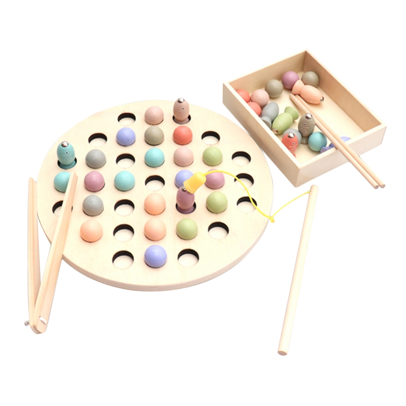 Kids Early Educational Toys Clip Beads Fishing Multi-Functional Learning Toy For Children Montessori 47