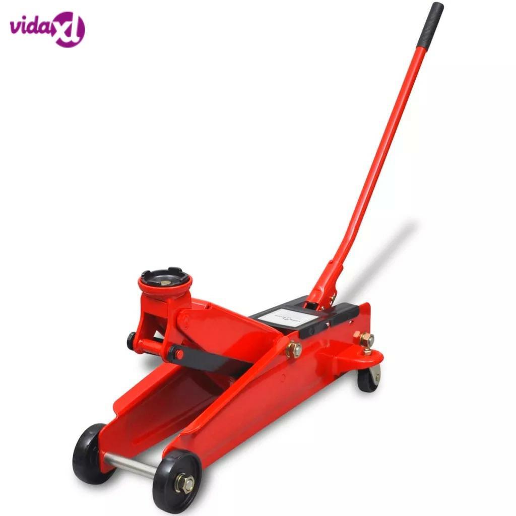 VidaXL 3t Red Hydraulic Jack For Low Floor Car Sedan Hydraulic Floor Lifting Jack Wheel Support Auto Repairing Tire Tyre Stand