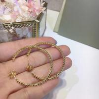 Famous brand jewelry gold round bead earring Vintage Circle Small Hoop Earring for women delicate mini ball earring fine jewelry