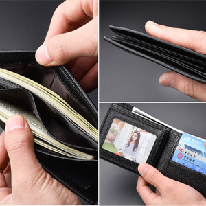 Image 4 - Youpin New Korean Casual Mens Wallet Business Stereo Multifunctional Luxury Pure Pu Leather British Folding Card Case