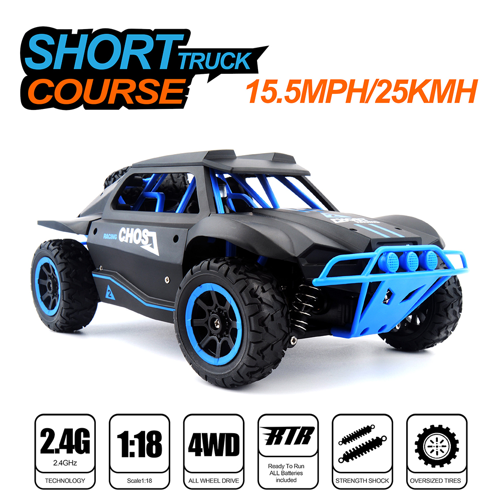 RC Car 1/18 Short Truck 4WD 25KM/H High Speed Drift Remote Control Car Radio Controlled Machine Racing Toy Cars Xmas Gifts
