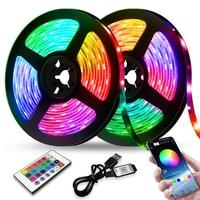 LED Streifen Lichter RGB 2835 Bluetooth Steuer USB Flexible Lampe 5V Band Band Diode Für Festival Zimmer Luces Computer TV Schreibtisch Luz