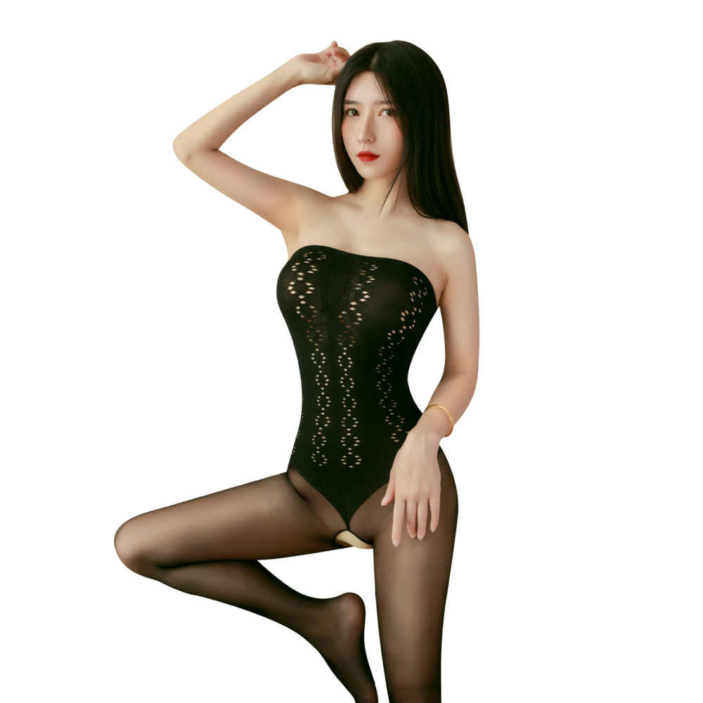 Vrouwen Sexy Lingerie Porno Open Kruis Hollow Kousen Jarretellegordel Panty Transparante Panty Lange Kous Medias De Mujer