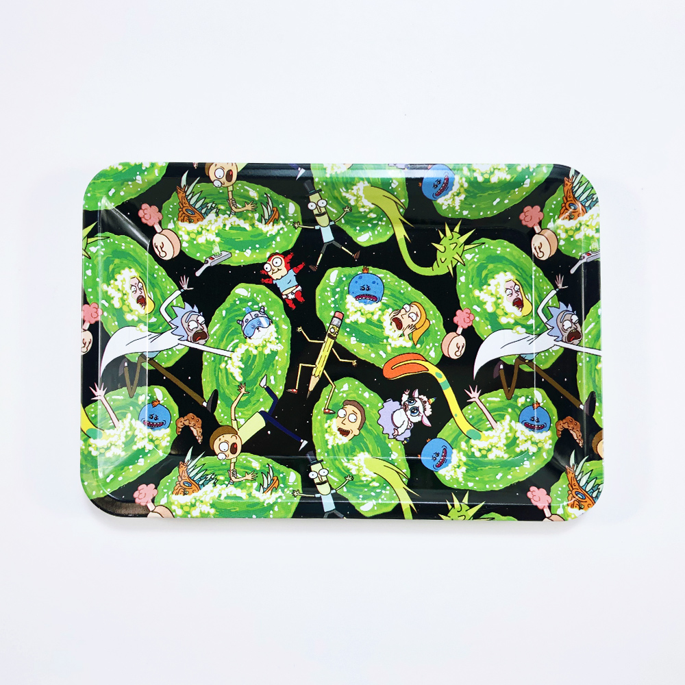 18x12.5cm Rolling Tray Leak Proof Magnetic Lid Herbal Tobacco Storage Cover Hand Cigarette Paper Plate Smoking Pipe Accessories 3